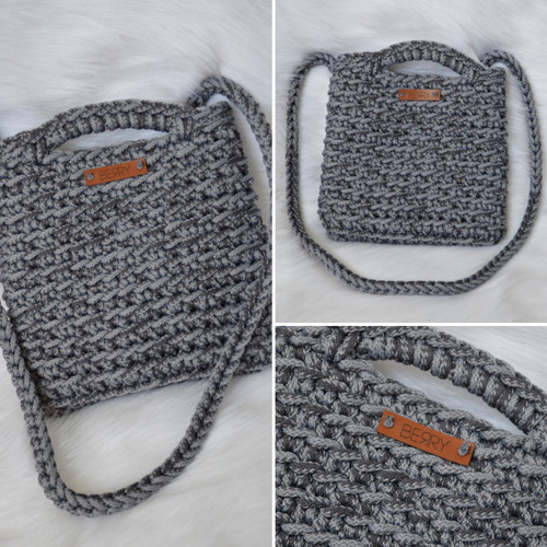 CrosBERRY kabelka - šedý mix