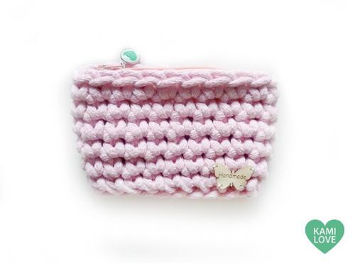 Taštička peněženka kapsa růžová třpytivá handmade