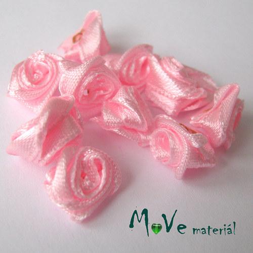 Růžička saténová růžová Ø12mm, 10kusů