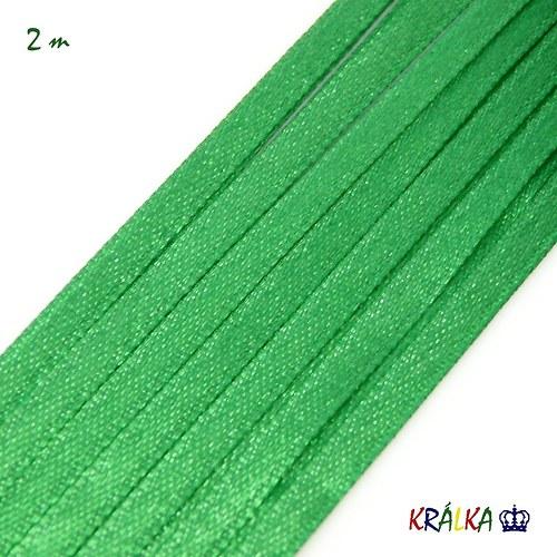 Atlasová stuha 3 mm zelená