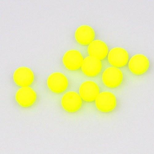 Neonové korálky 50 ks / 6 mm / žluté