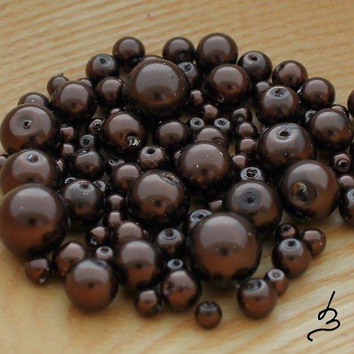 Voskové perle hnědé - 50 g
