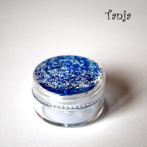 Modrá třpytivá krabička - mini