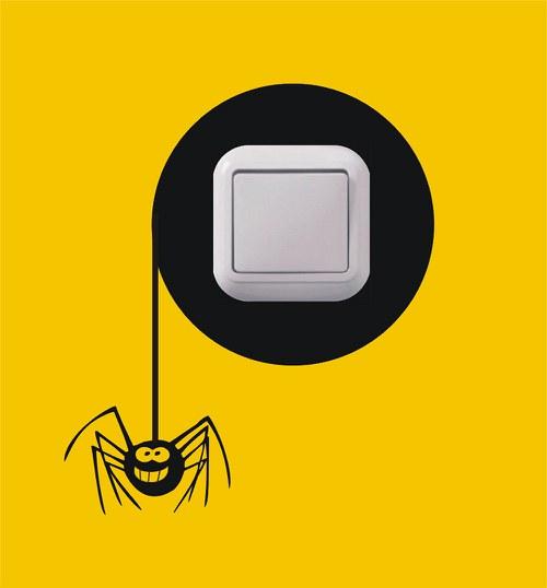 Samolepka k vypínači - Pavouk