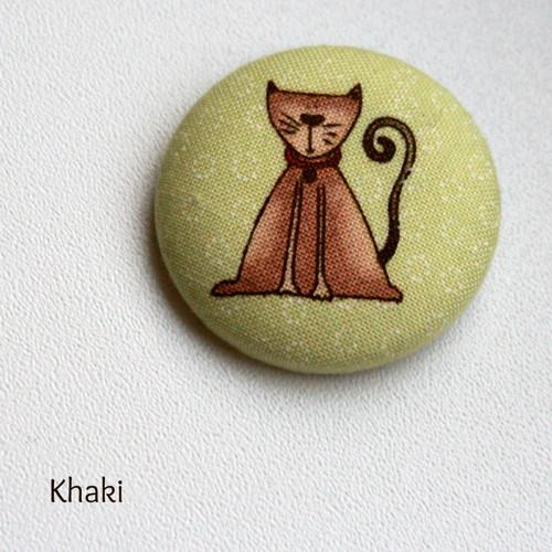 Kočičí - buttonková brož