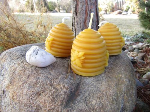 svíčka včelí úl ze 100%včelího vosku