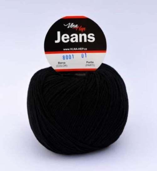 Jeans černá 8001