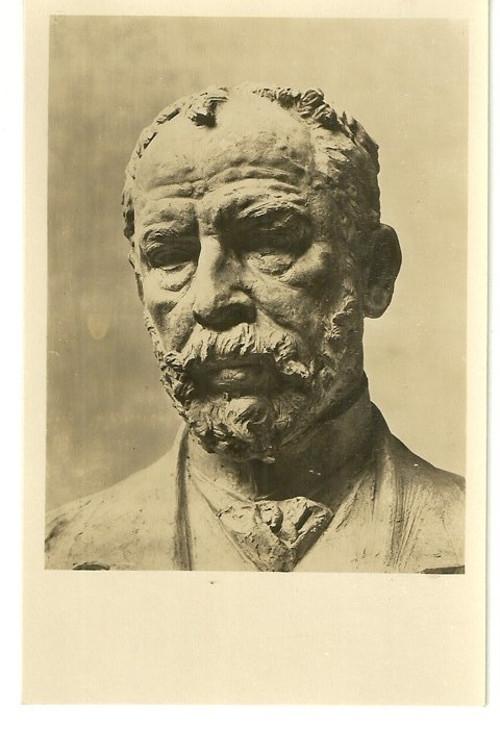Umělecká pohlednice socha J.V.Myslbek portrét