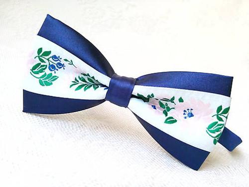 Slovak folklore bow tie (royal blue/white)