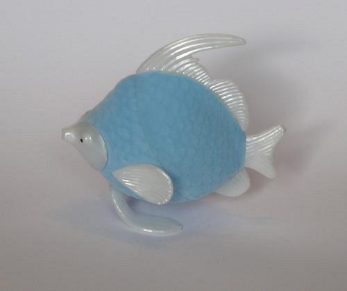 Sametová krabička na šperky - rybička modrá