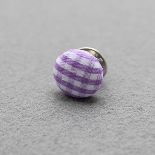 Button / knoflík do klopy - fialová kostka