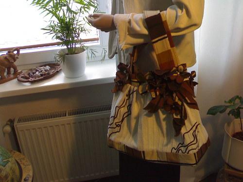 kabelka hnědobílá  - sleva !