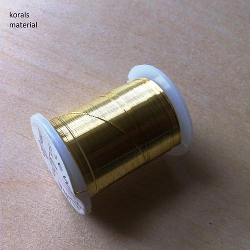 2383 Drátek Ø 0,3mm, návin 10m Zlatá