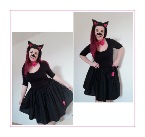 Sukně černá kočička