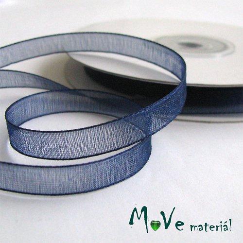 Šifónová stuha tm. modrá 6mm, 1m
