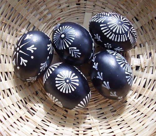 Velikonoční kraslice - černobílá