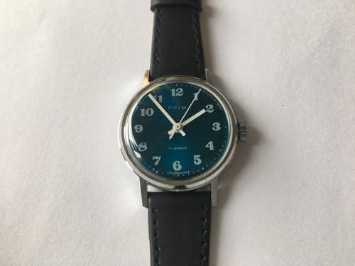 Dámské náramkové hodinky PRIM z roku 1977, modré