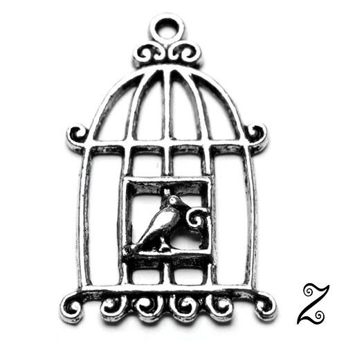 Klec s ptáčkem (1ks)