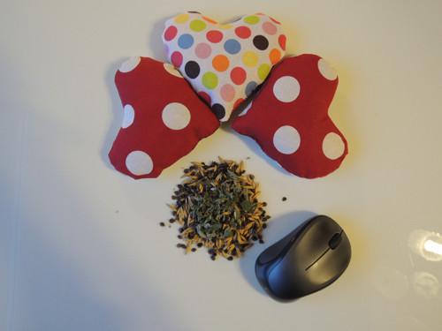 PC-myši polštářek s pohank. slupkami,ovsem a mátou