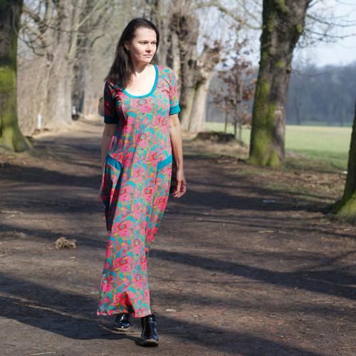 Jaro v růžích -  MAXI šaty