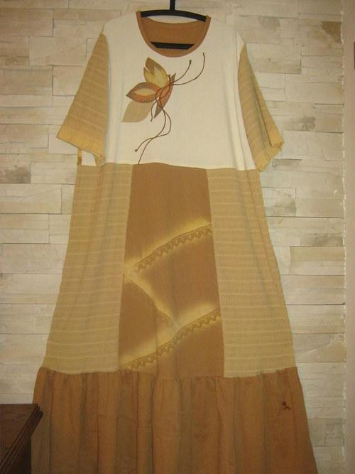 Šaty -pískověžluté