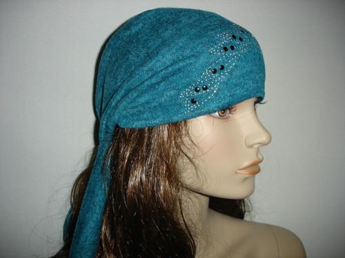 šátek teplý elastický s kamínky