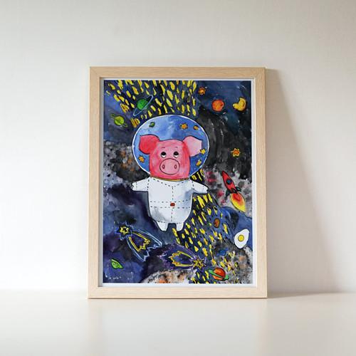 plakát Kapitán Prasátko opouští Mléčnou dráhu
