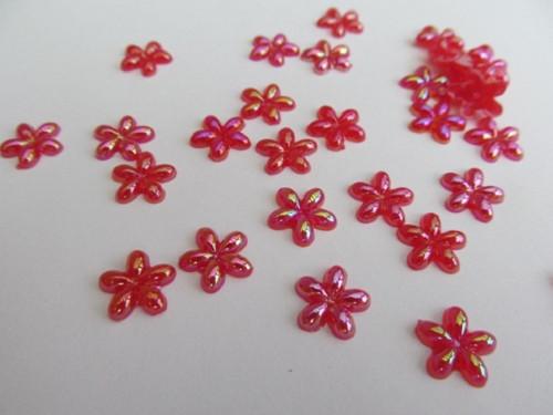 Kytičky červená - 10 mm - mix - 25 ks/bal.