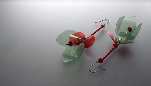 Náušnice Fuchsia-Zel-Rud