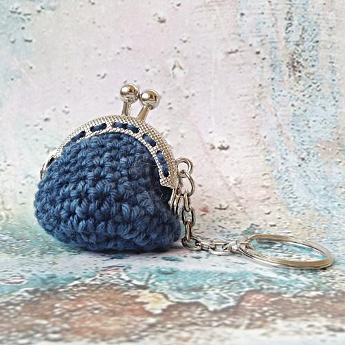 Mini Audrey - mini peněženka, přívěsek na klíče