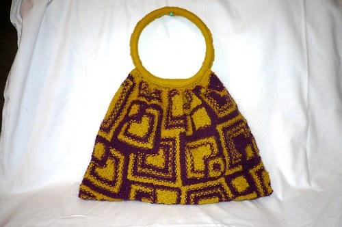 Ručně pletená modní taška