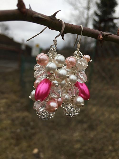 Náušnice z voskovýc perel