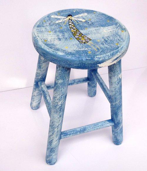 modrá stolička - divná vážka