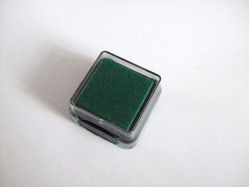 Razítkovací polštářek - tmavě zelená