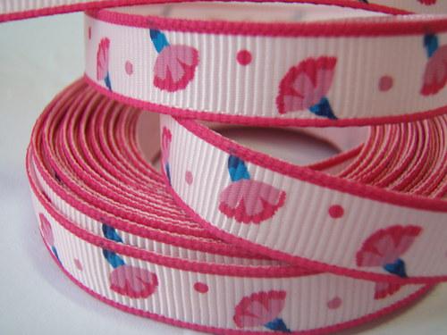 stuha Karfiát růžová