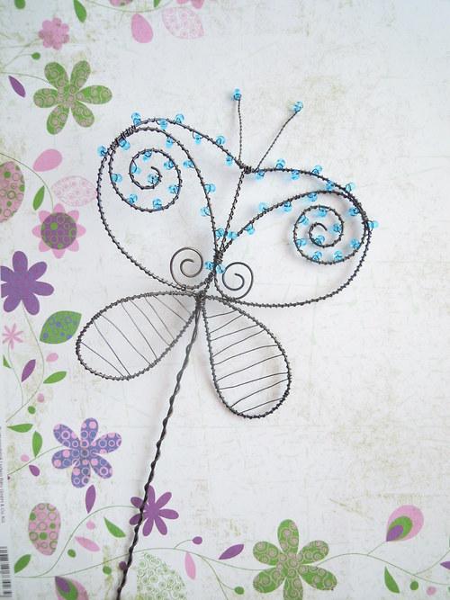 Motýl tyrkysový - zápich