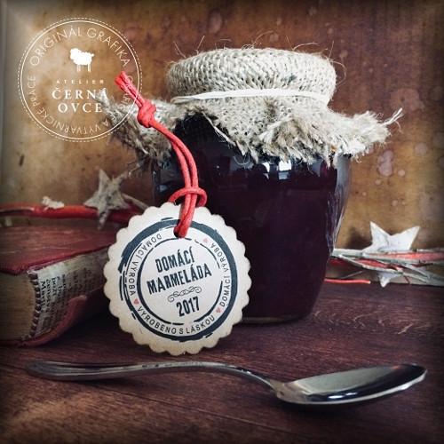 CEDULKA S ÚPRAVOU - pravá domácí marmeláda