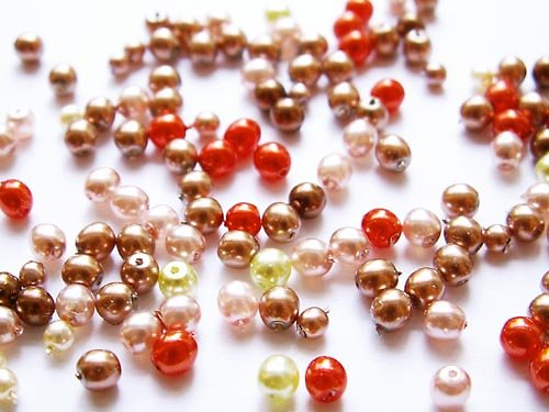Voskové perle - oranžovobéžová směs