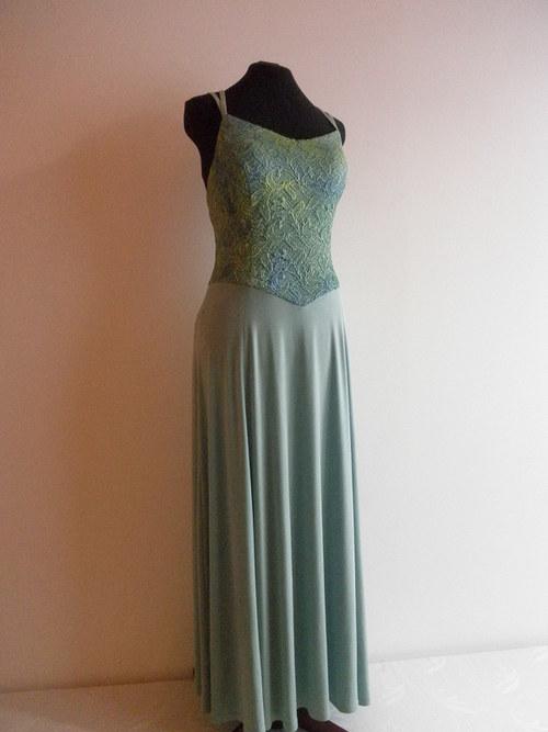 Elastické dlouhé šaty 585 - vel. 42