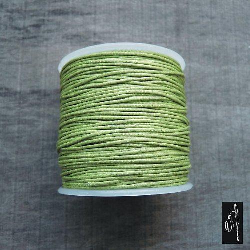 Voskovaná bavl. šň. sv. zelená, 1 mm, 4 m