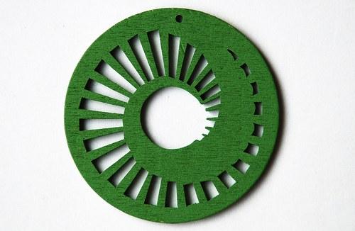 dřevěné kolečko 60 mm- zelené