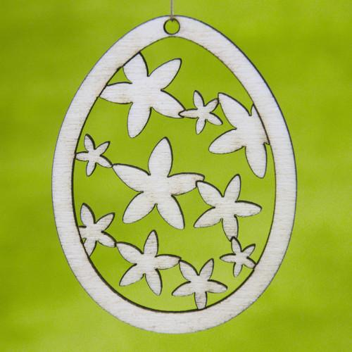Velikonoční vajíčko - kytičkový řetěz