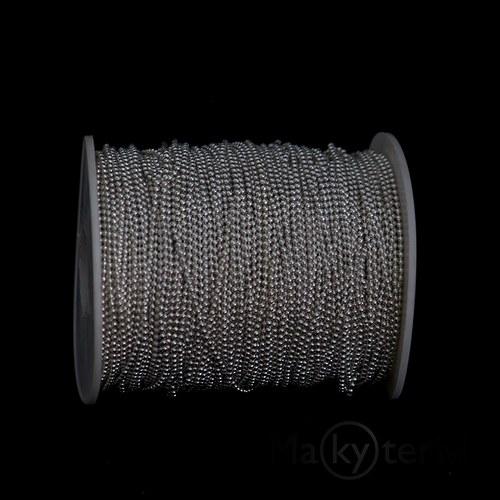Kuličkový řetízek 1,5mm - stříbrný - 1m