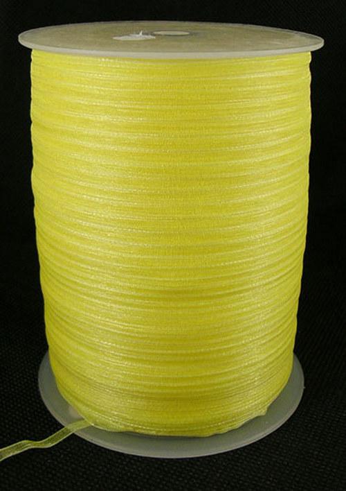 stuha šifonová /3mm/ žlutá/ 5m