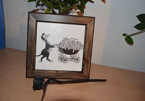 Obrázek - kočka s kočárkem