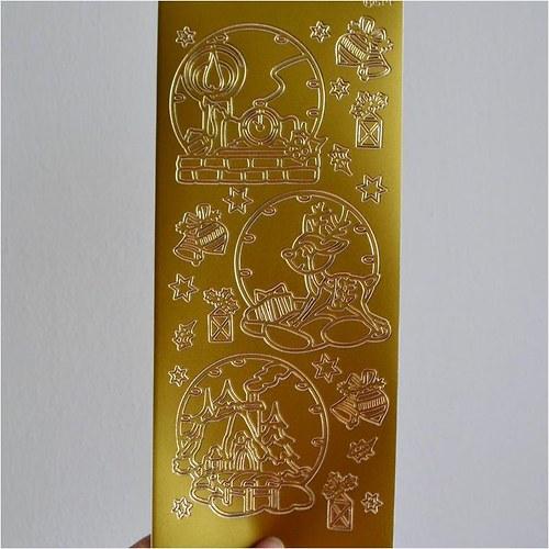 Nálepky (svíčka, sob, chaloupka) 10x23cm