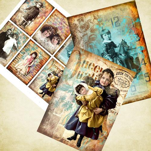 Nažehlovací obrázky- Děti - 8 kusů