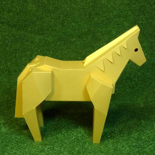 Koník zlaté barvy - dekorace