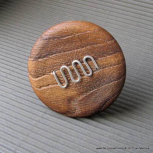 DRZATEC iii dřevěná brož