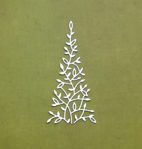 Vánoční stromeček lístečkový